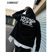 Simwood 2020 primavera zip-up hoodies homem streetwear sweatshirts marca roupas plus size com capuz frete grátis 190370
