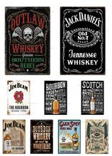 Whiskey Vintage Metal Sign Tin Sign  Tin PosterPlaque Metal Vintage Decor For Bar Pub Club Man Cave Metal Signs Poster whiskey vintage metal sign tin sign plaque metal vintage retro wall decor for bar pub club man cave metal signs poster