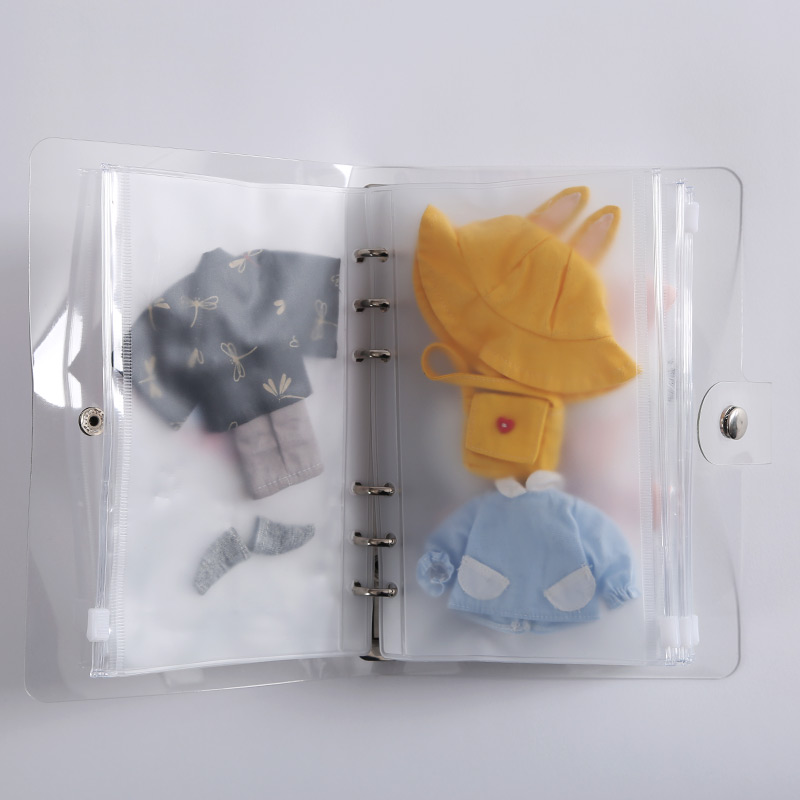 1/8 1/12 BJD  Ob11 Doll Clothes Storage Book Transparent Clear Box For Ob11 Bjd Doll Clothes 19*13cm