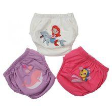 Panty Boxer-Models Baby-Girls Infants Underwear Cotton Potty-Training Initial 3piece-Set
