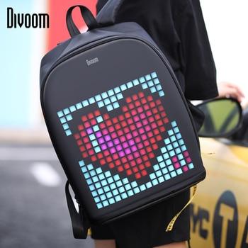 Divoom Pixel Kunst Rucksack mit Anpassbare Led-bildschirm durch APP Control Wasserdichte für Radfahren Wandern Außerhalb Aktivität Big Lagerung