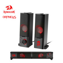 Redragon Orpheus GS550 aux 3.5mm stereo surround music gaming backlight speakers column sound bar for computer PC loudspeakers