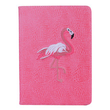 For iPad Mini 1 2 3 Case Pink Flamingo Flip Protect Cover Auto Sleep / Wake up Stand Pu Leather Smart Cover For iPad Mini 4 Case stylish protective pu leather case cover stand for retina ipad mini pink