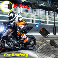 baofeng uv5r מכשיר הקשר דיבורית אופנוע קסדה אוזניית Bluetooth K סוג Wireless אוזניות עבור KSUN Kenwood Baofeng UV5R UV82 888S (1)