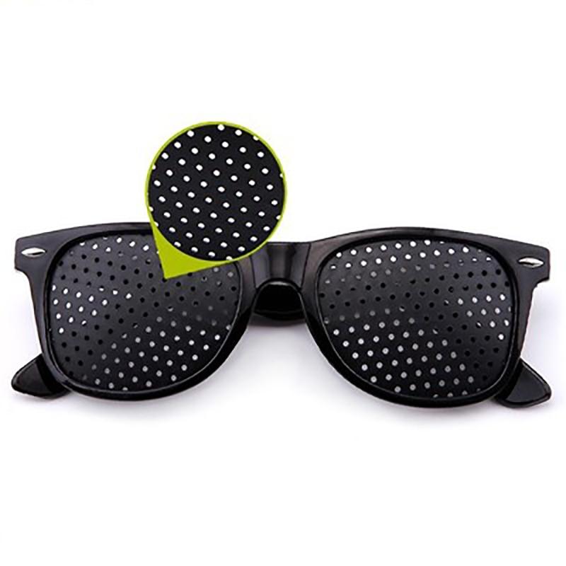 Black Eyesight Improvement Care Exercise Eyewear Glasses Training Cycling Eyewear Pin Small Hole Sunglass Camping Eyeglasses