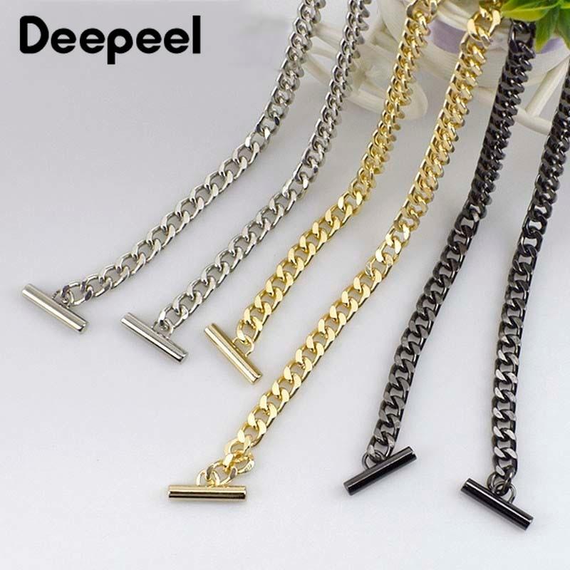 Deepeel 1pc 120cm Metal Chain For Bags Crossbody Belt Wallet Handle Purse Strap Replaced DIY Handbag Hardware Accessories F7-26