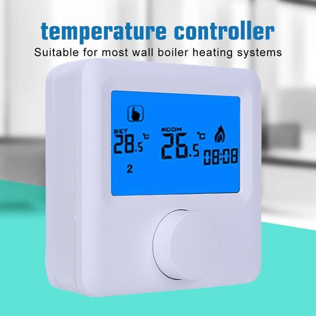Thermostat numérique sans fil, LCD, RF, Programmable, contrôleur de température pour système de chauffage électrique, offre spéciale