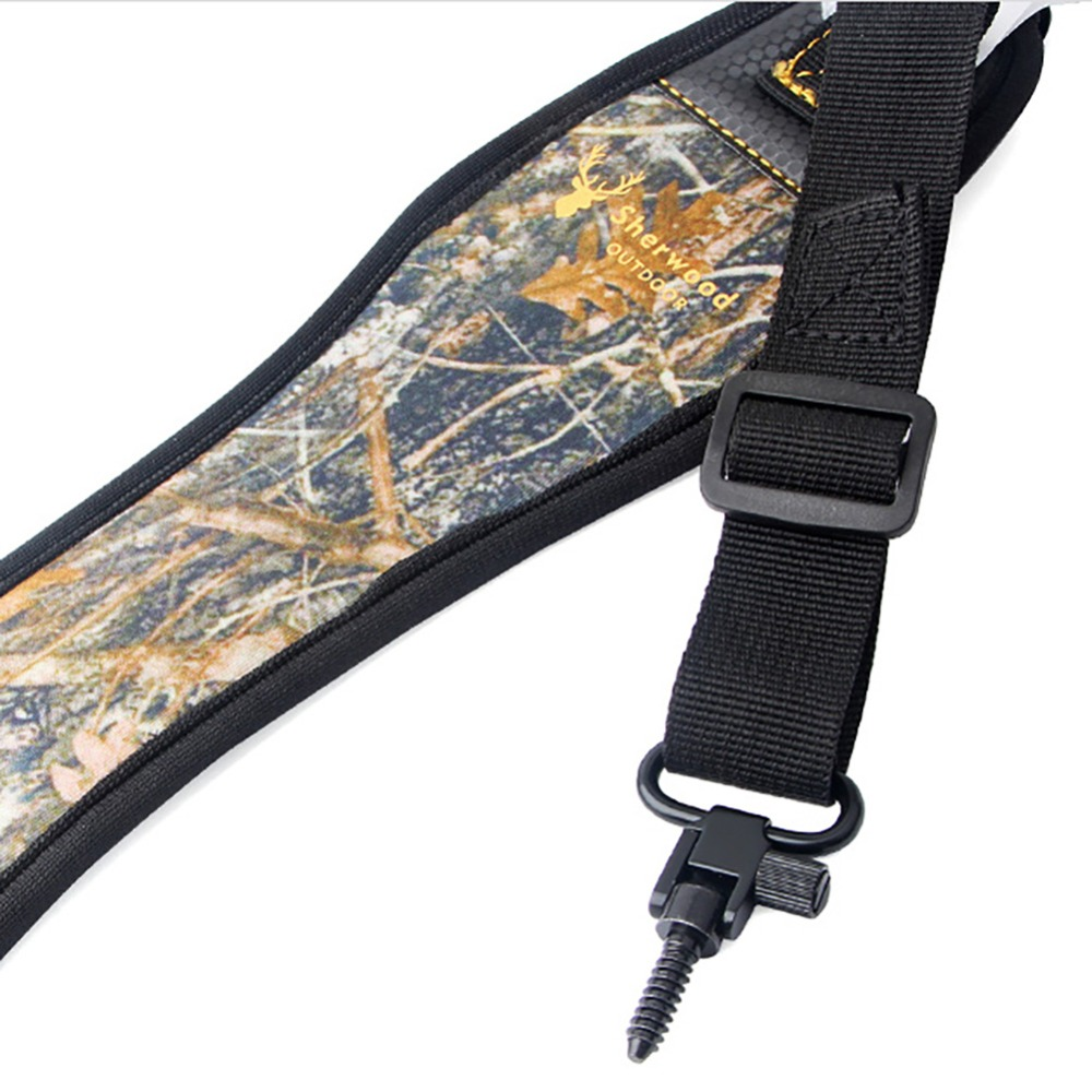pistolet Camo Rifle Sling Fusil Sangle Ceinture Camouflage Cuir velours chasse vente