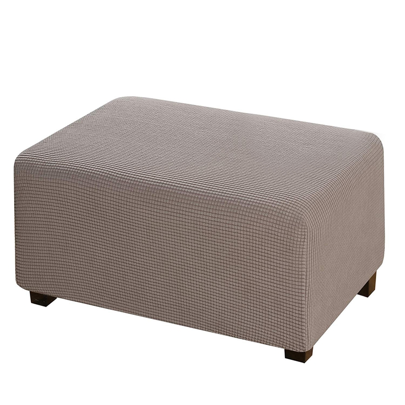 Checked Fleece Sofa Pedal Cover, Telescopic Footrest Cover, Rectangular Folding Storage Form, Suitable For Non-Slip Resistance (
