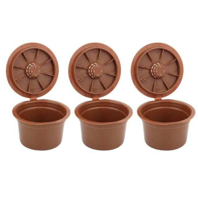 3Pcs Reusable Refillable Coffee Capsule Filter Cup Replacement Fit for Caffitaly Capsule Coffee Machine