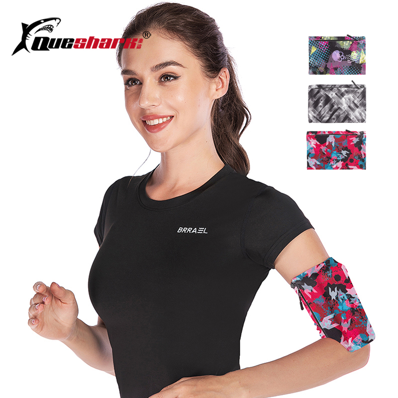 5-6.5inche Printed Sports Running Arm Phone Bag Elastic Zipper Fitness Wrist Bag Hiking Cycling Arm Case Exercise Phone Armband