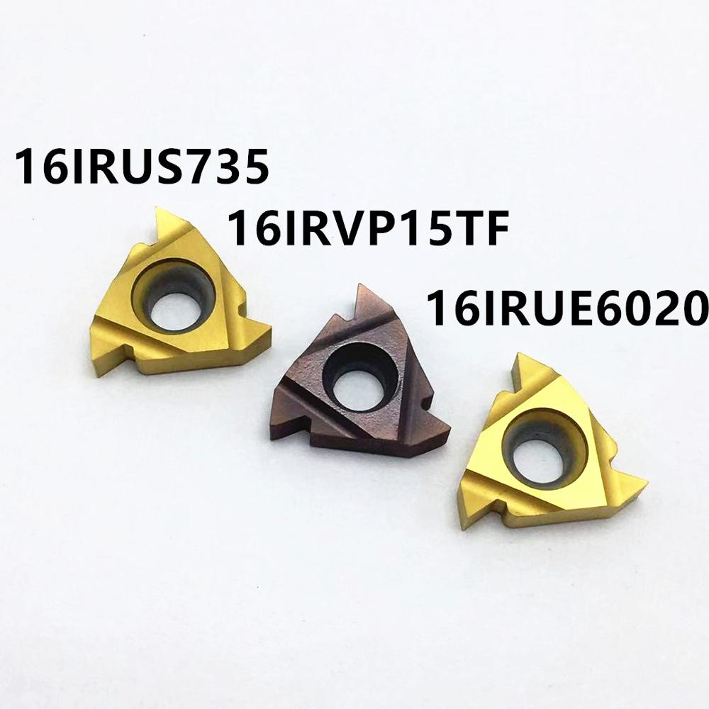 10PCS Carbide Insert MMT16IR AG60 VP15TF UE6020 US735 Thread Turning Tool CNC Tool Lathe Tool 16IR AG60 Milling Cutter
