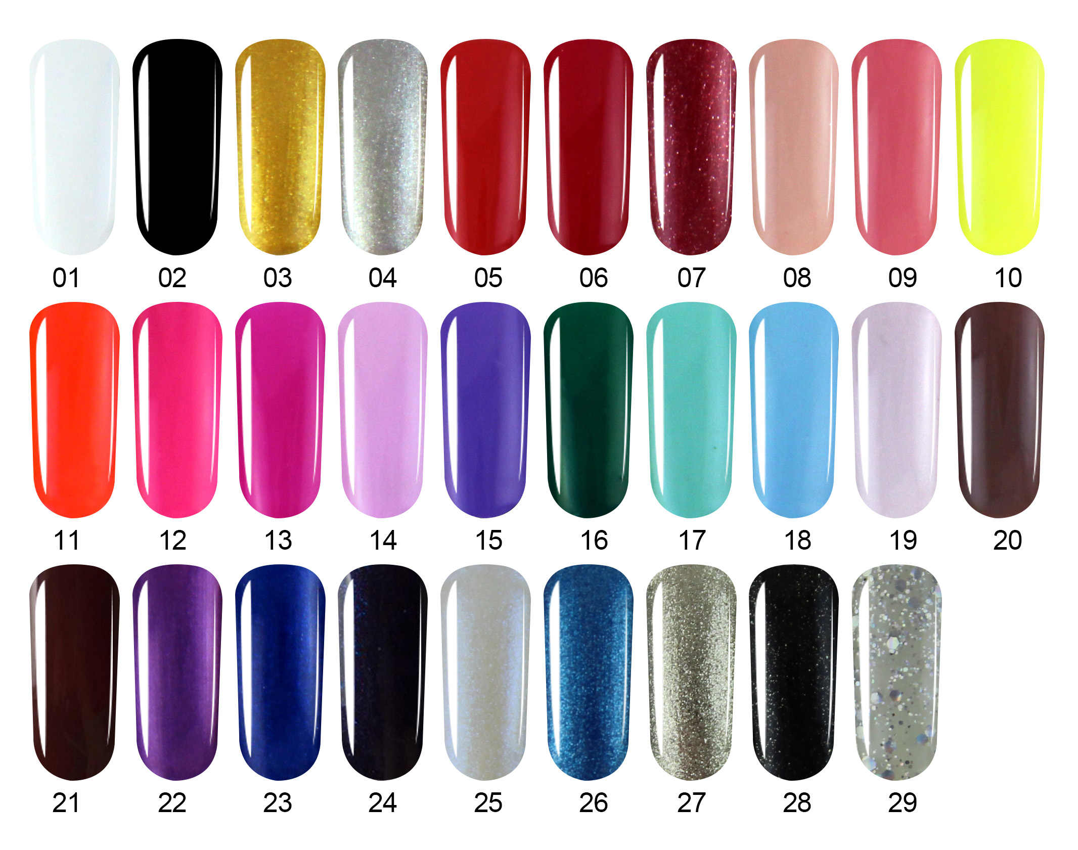 Verntion Hot Sale 29 Warna Gel Nail Polish Semi Permanen Gel Polish Rendam Off Uv Gel Nail Polish OFF PUTIH polygel Gel Polandia