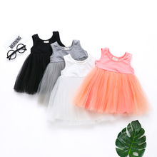 2020 Baby Girl Dress Summer 1st Birthday Baby Dresses Girl Cotton Sleeveless Princess Dress Kids Clothes Outfit White Vestido cute short pink and white flower girl dresses peter pan collar knee length baby girls summer dress 1st birthday outfit with bow
