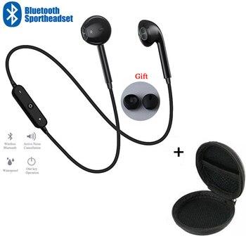 S6 Спортивные Беспроводные наушники с шейным ремешком, музыкальные наушники, гарнитура, Bluetooth наушники с микрофоном для Samsung Huawei, все телефоны