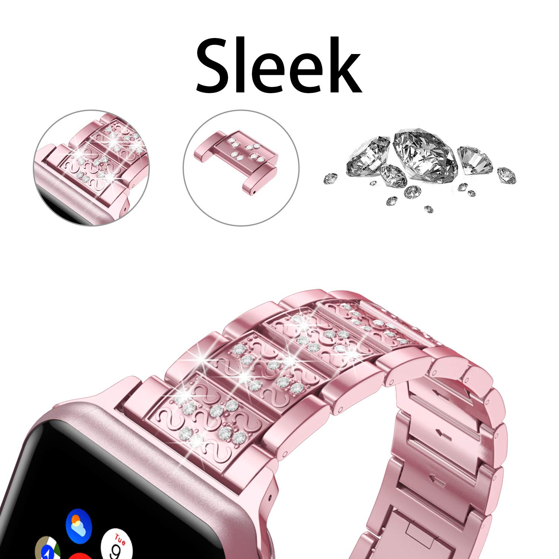 Diamond Band + case For Apple Watch 40mm 44mm 38mm 42mm iWatch series 5 4 3 2 1 bracelet apple watch stainless steel strap women 3