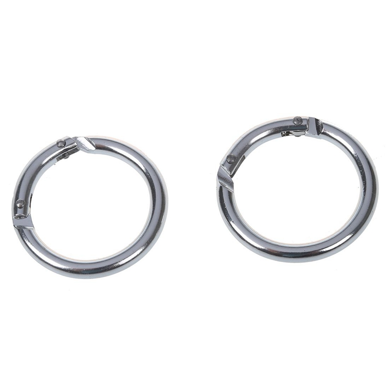 10x silver carabiner round connectors keychain in Climbing Accessories from Sports Entertainment