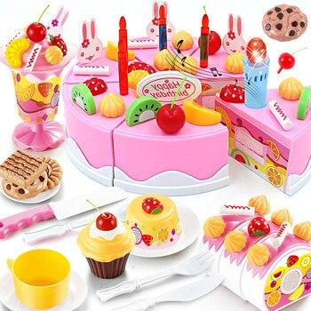 DIY pastel nuevo 76 Uds juego De Cocina De cumpleaños comida juego...