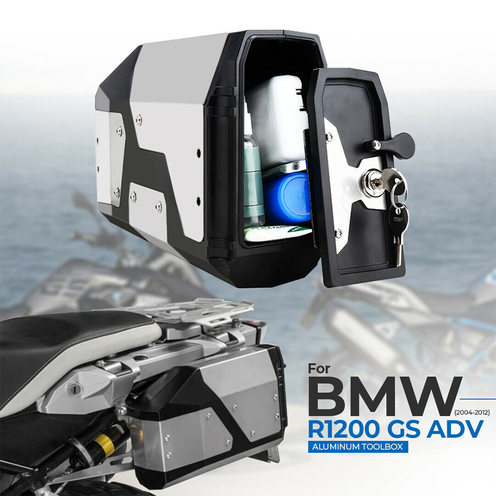 Big sale! Tool Box For BMW r1250gs r1200gs lc & adv Adventure all years 2012 for BMW r 1200 gs Left Side Bracket Aluminum box(China)