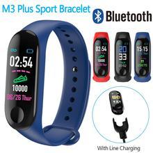 Шагомер для бега M3 фитнес-часы плюс Монитор артериального давления фитнес-трекер для измерения сердечного ритма умный браслет счетчик шагов