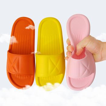 Nowe kapcie Unisex kobiety mężczyźni buty letnia łazienka pantofel para kryty sandały moda domowe kapcie antypoślizgowe podłogi Flip Flop tanie i dobre opinie TECHOME CN (pochodzenie) Niska (1 cm-3 cm) Dobrze pasuje do rozmiaru wybierz swój normalny rozmiar 20sh-SLIPPERS podstawowe