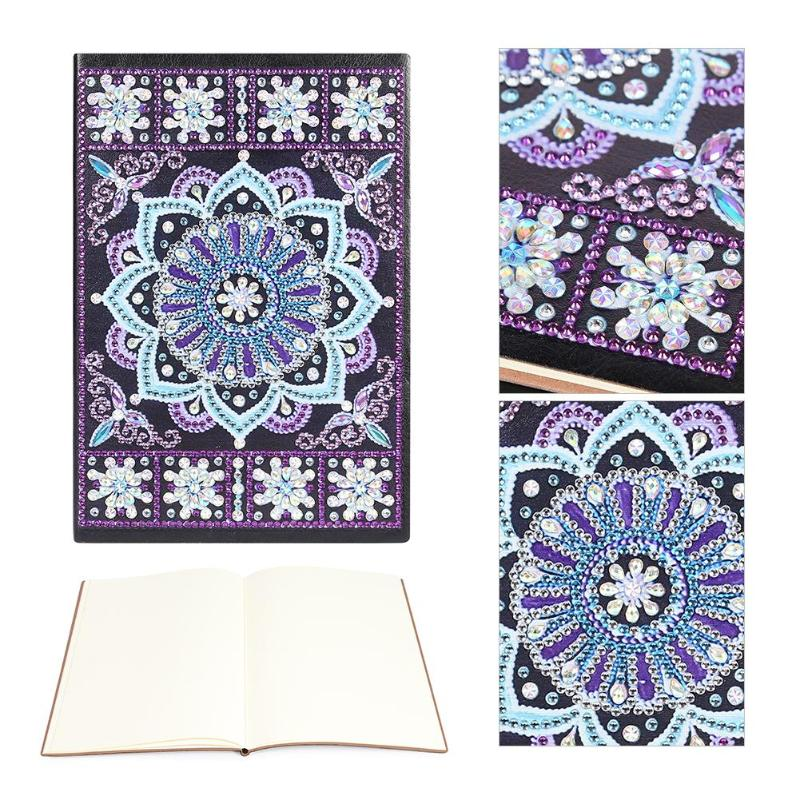 Personalized DIY Special Shaped Diamond Painting 50 Sheets Students A5 Notebook Without Lines Office Supplies Colorful For Gifts