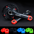 2PCS Silicone Bicycle Crank Cover Carbon Fiber Fixed Gear Pedal Crank Case Cycling Protector Cap MTB Mountain Bike Accessories