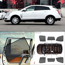 Car Side Windows Magnetic Sun Shade UV Protection Ray Blocking Mesh Visor For Cadillac SRX