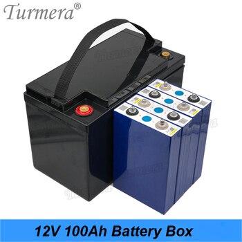 Turmera-batería Lifepo4 de 12V, 90Ah, 100Ah, 3,2 V, batería de litio, fosfato de hierro para sistema de energía Solar y fuente de alimentación incortada 1