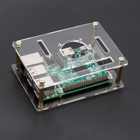 Hi-Q Acrylic Transparent Case Box For Raspberry Pi 4  Enclosure(NO Raspberry Pi BOARD)