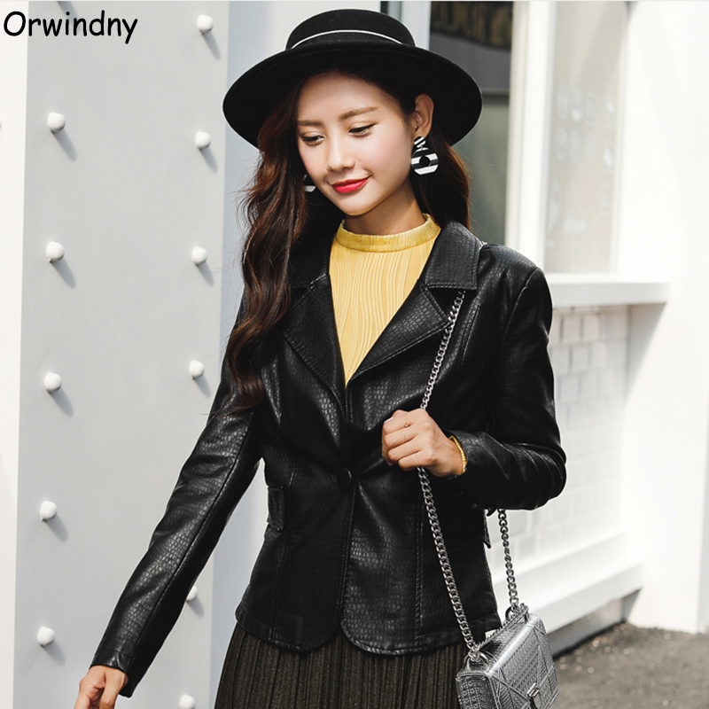 Orwindny   Leather   Blazer Women Spring And Winter Female Jacket Coat Outerwear Black Office Lady Suit Coat Casual   Suede