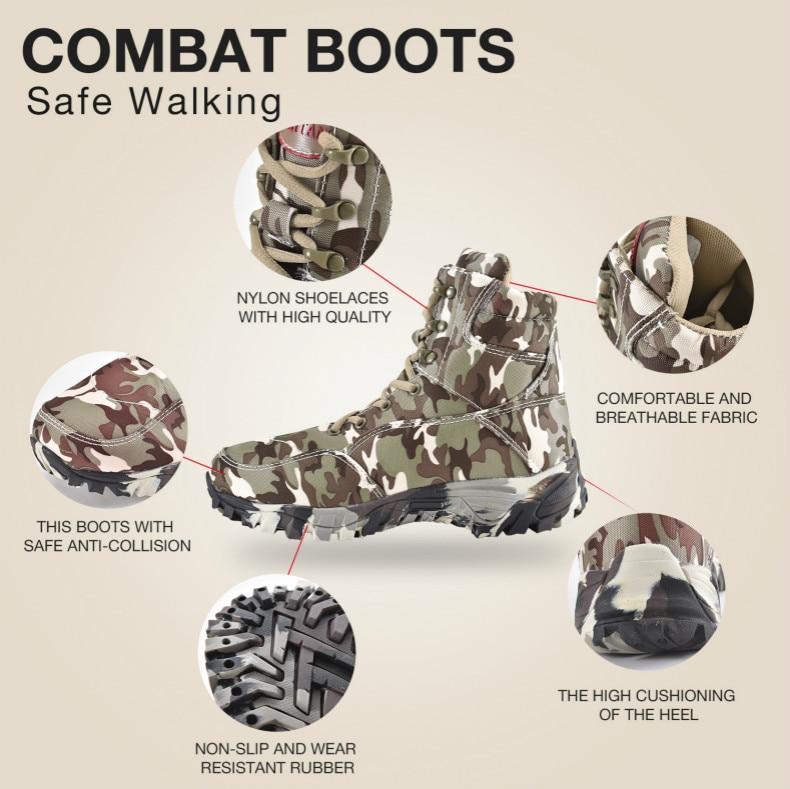 deserto combate tornozelo barcos do exército sapatos