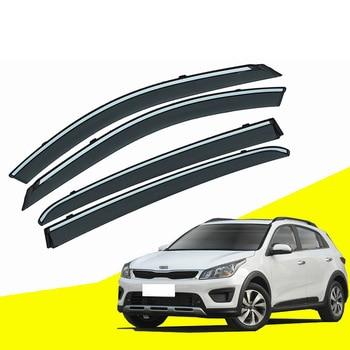 For KIA KX.CORSS Car Sun Window Visor Rain Guard Vent Shade Accessories 4Pcs