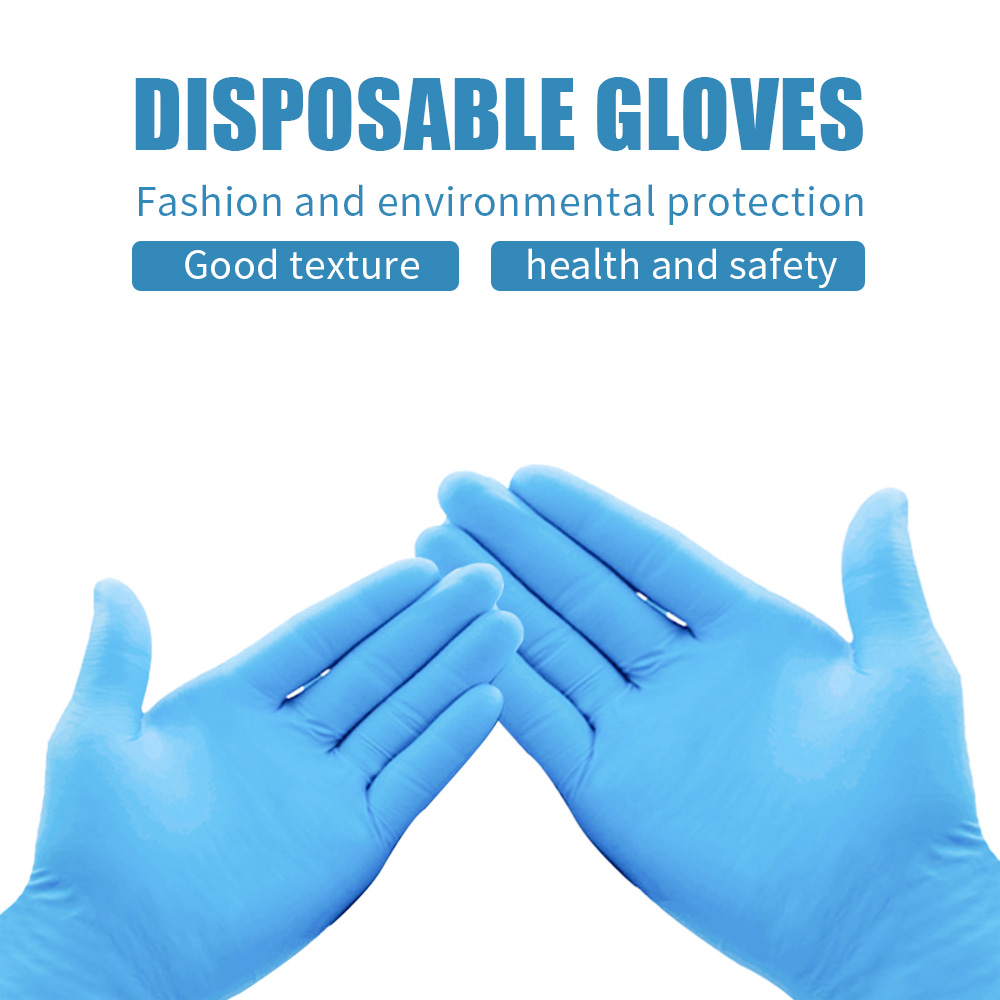50pcs Disposable Gloves Rubber Latex Gloves Without Powder Gloves Dust-proof Universal Kitchen/Dishwashing/Work/Garden S/M/L