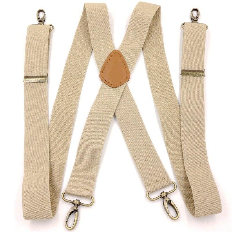 Men Hook Buckle Lifting Hook Hanging Buckle Suspender Strap Clip Camisole Lengthen Suit Pants Suspender Strap Adult Plus-sized E