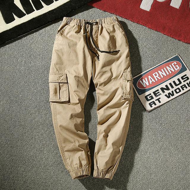 Mens Joggers Pants Cargo Pants Male Jogger 2020 Spring Casual Pants Men's Trousers With Pockets Drawstring Sweatpants Slacks 2