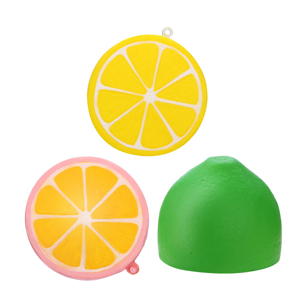 Squishies Adorable Half Mini A Lemon Slow Rising Cream Squeeze Scented Stress Relief Toys Stress Relief Funny Gift Toy L1224