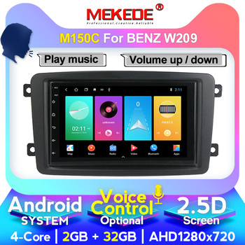 TOP!HD In Stock 7Android Car DVD Player For Mercedes Benz CLK W209 W203 W463 Wifi 4G GPS Bluetooth Radio Stereo audio media image