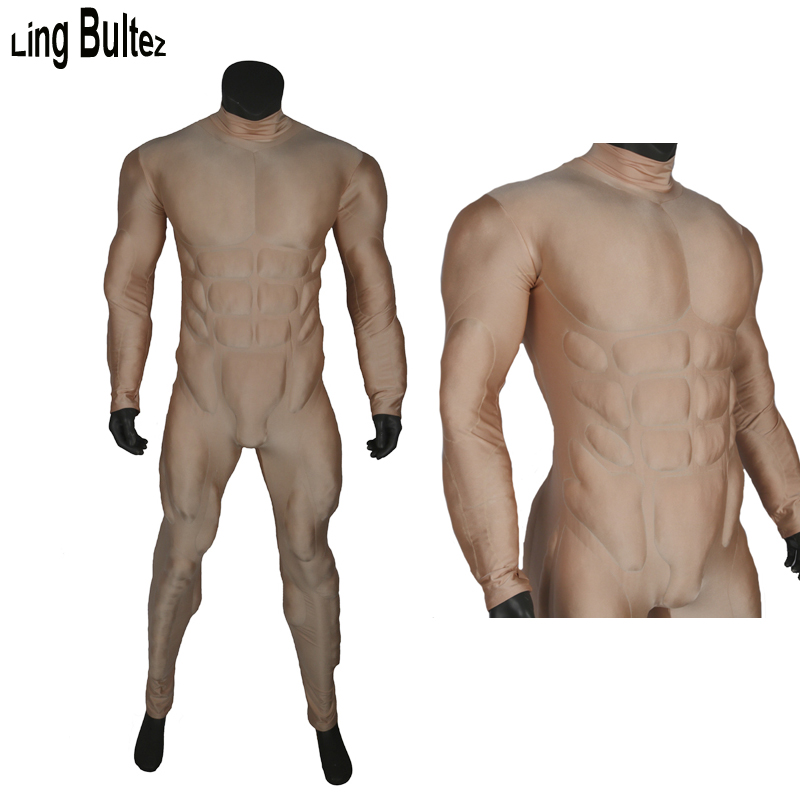 Ling Bultez High Quality Embossed Muscle Suit Muscle Padding Muscle Costume Basic Muscle Outfit For Cosplay
