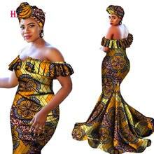 Женские африканские платья с v образным вырезом bazin черные
