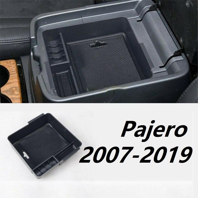 Ящик для хранения в подлокотнике автомобиля центральной консоли ящик для хранения для Mitsubishi PAJERO V93 V97 V98 2007-2019