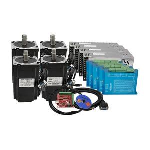 Image 5 - CNC Nema34 close loop 4.5Nm 8.5Nm 12Nm stepper motor +HBS860H Hybrid driver+400w60v power supply +MACH3 controller board for CNC