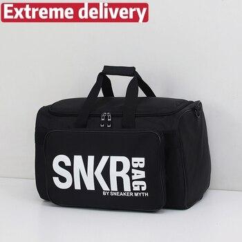 Bolsa de viaje multifuncional SNKB para almacenamiento de calzado, bolsa deportiva para ejercicio, bolsa de baloncesto, bolsa de equipaje de gran capacidad