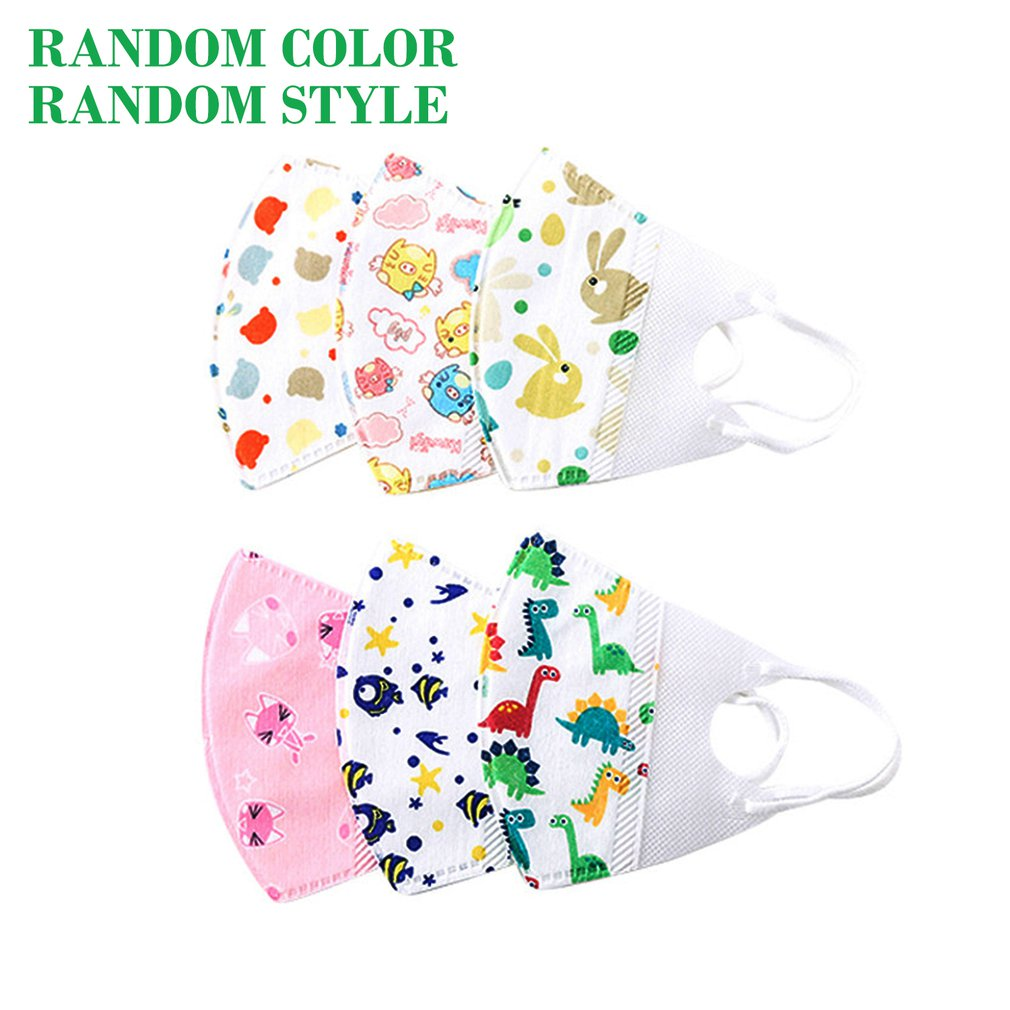 Dust-Proof And Haze Non-Woven Melt-Blown Cloth Child Mask High Efficiency Filtration 3D Fitting Design Face Mask 10 Pcs