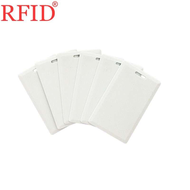 Identificação 125khz em4305 t5577 tamanho 85.5x54x1.8mm regravável gravável cartão em branco rfid token tag para gestão do comparecimento cartão grosso 100
