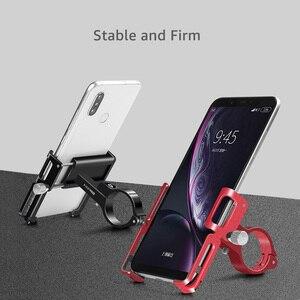 """Image 3 - Untoom אלומיניום אוניברסלי אופניים טלפון מחזיק MTB אופנוע קטנוע אופני כידון טלפון הר Stand עבור 3.5 """"כדי 7"""" smartphone"""