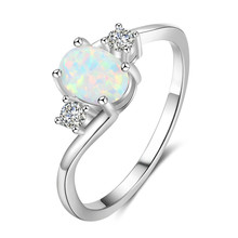 Deluxe CZ Rhod Women's Ring Oval opal Romantic Rhod Elegant Women's Ring Engagement Wedding Ring Party Jewelry Gift rhod gilbert manchester