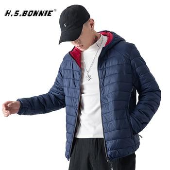 2019 Brand Winter Light Jacket Men's Fashion Hooded Short Large Ultra-thin Lightweight Youth Slim Coat 4XL chaqueta hombre
