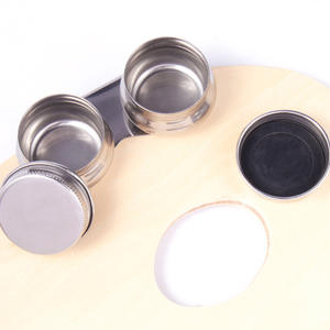 Oil Palette Single Double Hole Dipper Painting Oil Pot Oil Painting Art Supplies 1piece Stainless Steel Material Model Number