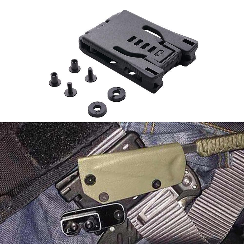 1Pcs Multi-functional Waist Clip Back Clip Large Lock Belt Clip For Knife Sheath Holster DIY EDC Tool Hiking Camping Equipment